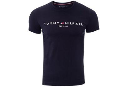 TOMMY HILFIGER KOSZULKA T-SHIRT LOGO NAVY r. L
