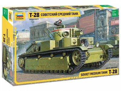 Звезда 3694 Т 28 HEAVY TANK модель тяжелого танка