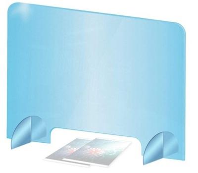 Osłona plexi szyba ochronna biurko 100x75 + GRATIS