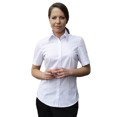 Koszule Kelnerskie Damskie Bluzki Białe kr. rękaw