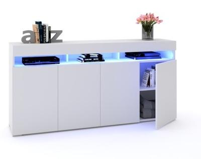 Большой Комод LUNA 4D белая 180см LED