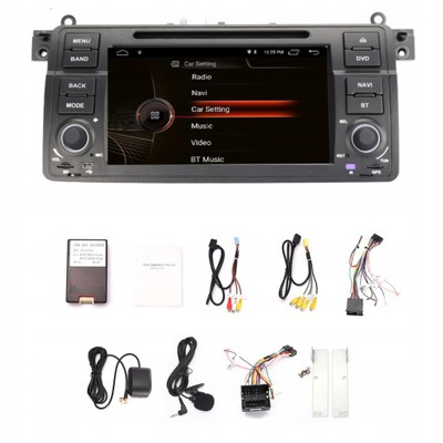 1 DIN РАДИО ANDROID BMW E46 DSP 4/64GB