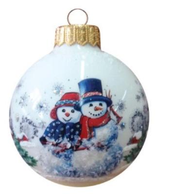 Традиционная стекло  новогоднее представление - 6086 идет