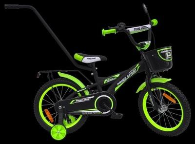 Rower 16 cali PRIME BMX Sports BLACK/Green MAT !