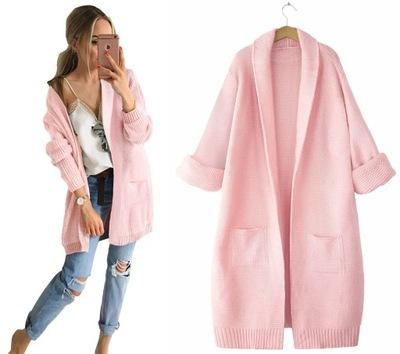 Efektowny modny kobiecy KARDIGAN sweter
