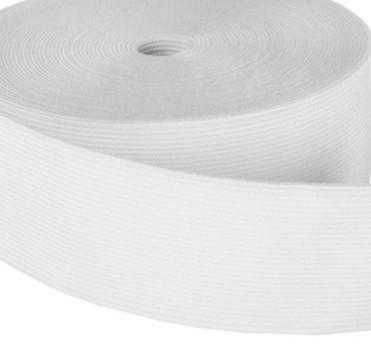 Guma odzieżowa szeroka 60 mm biała 1 mb