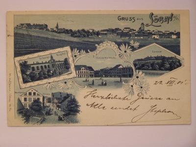 Lubawa k. Ostróda Loebau szpital 1901 lit secesja
