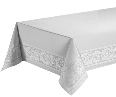 Obrus plamoodporny elegancki Laura biały 140x400