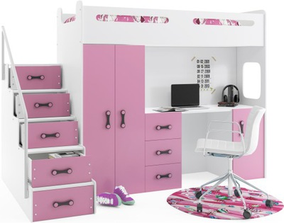 кровать кровать +шкаф МАКС 4 200x80+письменный СТОЛ цвета