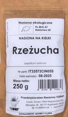 RZEŻUCHA nasiona na kiełki EKOLOGICZNE BIO 250g