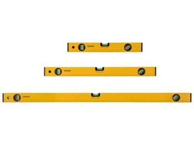 Parkside zestaw 3 poziomic 40 cm, 60 cm, 100 cm