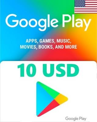 KOD Doładowanie Google Play 10 USD