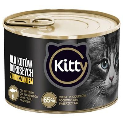 Karma mokra dla kota KURCZAK 185g Kitty