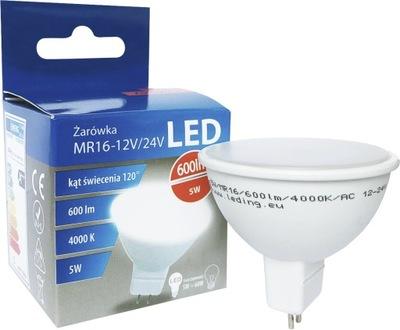 ŻARÓWKA HALOGEN LED 5W 600lm MR16 120lm/W 4000K