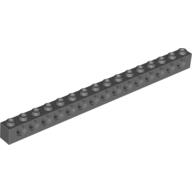 LEGO Technic belka 1x16 ciemny szary 3703