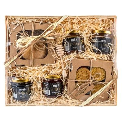 БОЛЬШОЙ Корзина с подарками комплект медов свечи, торты