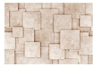 Foto Tapety na stenu béžová, štvorce, steny 400x280