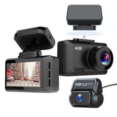 Wideorejestrator T8 DUO GPS WIFI 4K PRZÓD + TYŁ
