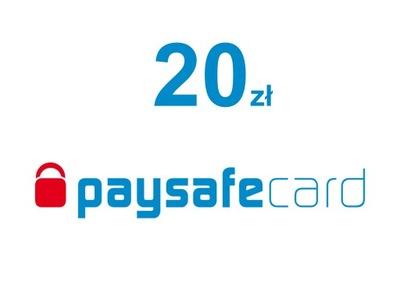 Kod PaySafeCard 20 zł PSC