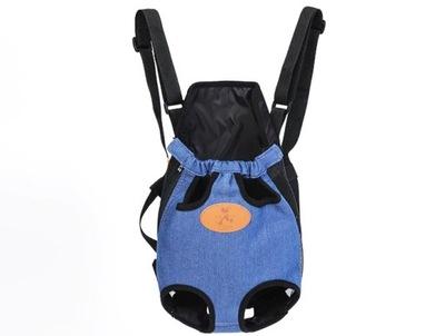 torba nosidełko plecak dla kota psa - Niebieski, M