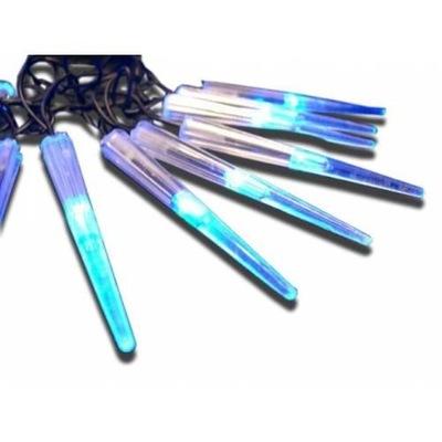 LAMPKI ŚWIĄTECZNE SOPLE 60 LED OGRODOWE NIEBIESKIE