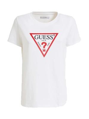Koszulka T-shirt Tshirt biały Guess damski