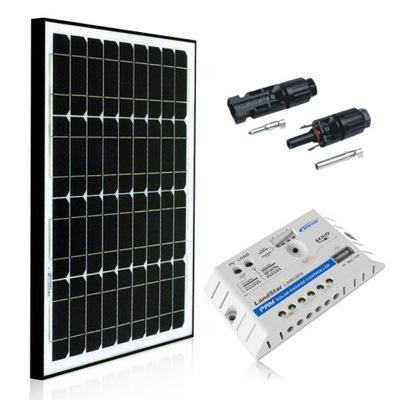 комплект солнечный 30W + регулятор 5A дачный участок