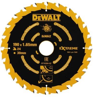 Disk na drevo 190 mm 24z DeWALT EXTRÉMNE DT10304