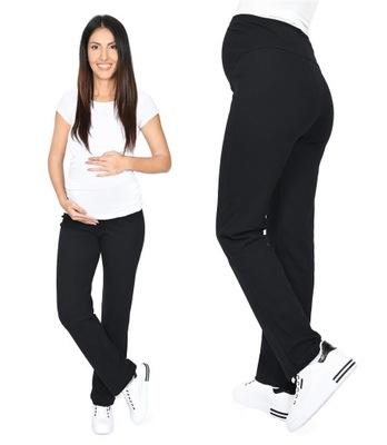 Wygodne spodnie ciążowe dresowe 3010 czarne XXL