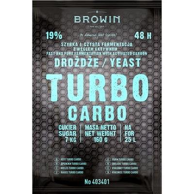 Drożdże gorzelnicze z węglem Browin TURBO Carbo