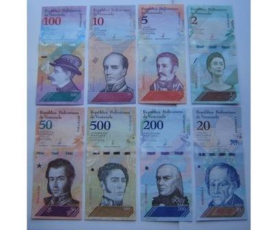 Венесуэла 2 5 10 20 50 100 200 500 Boliwarów 2018
