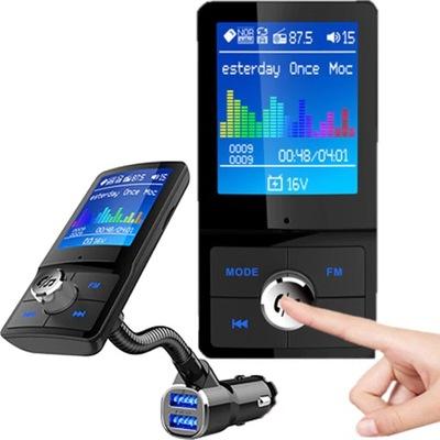 ТРАНСМИТЕР FM BLUETOOTH 2XUSB QC 3.0 ЦВЕТНОЙ LCD