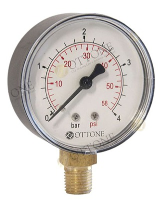 Vytočte tlakomer 1/4 M63 0-10 bar OTTONE