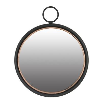 Závesné zrkadlo, guľaté, medený kov, 40 cm
