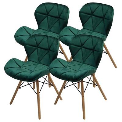 4 стулья ELIOT Velvet зеленые велюр обиты