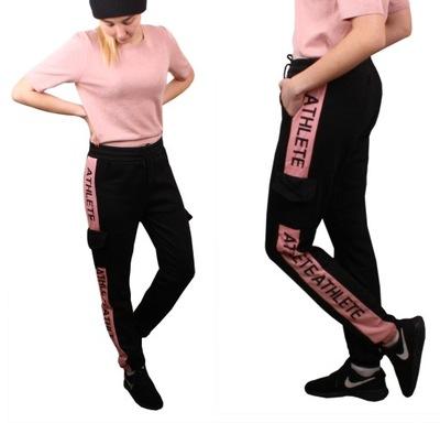 Spodnie JOGGERY bojówki LAMPAS czarne#r 625 L/XL