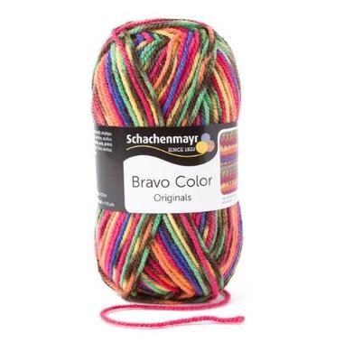 Włóczka kolorowa BRAVO COLOR col 2085 melanż ombre