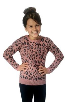 Ciepły ELEGANCKI sweterek sweter PANTERKA *134