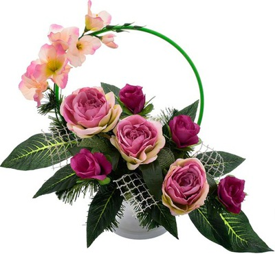 декор КОМПОЗИЦИЯ БУКЕТ ПАМЯТНИК цветы, МОГИЛА Корзина