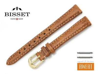 BISSET pasek skórzany do zegarka brązowy +T 12 mm