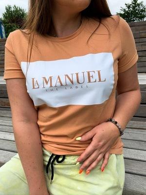 T-shirt LA MANUEL Brzoskwiniowy Polska Produkcja
