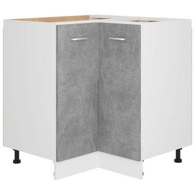 Szafka narożna, szarość betonu 75,5x75,5x80,5 cm,