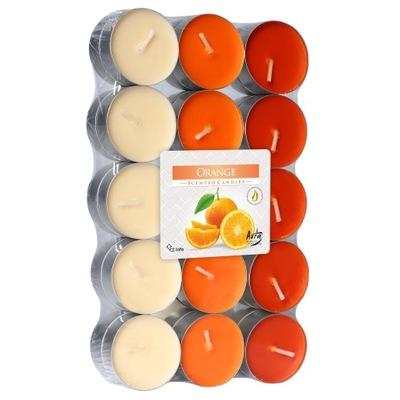 Podgrzewacze Bispol pomarańcza 30 sztuk