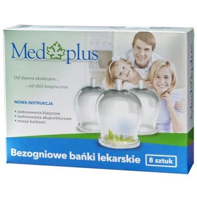 Med Plus - Bańki bezogniowe - 8 szt. + Pompka