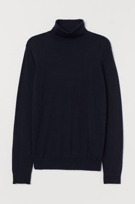 sweter męski merino wool blend H&M S 170 B137