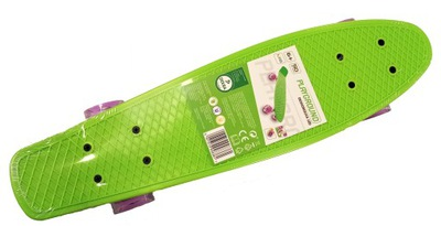 Deskorolka LED fiszka zielona playground