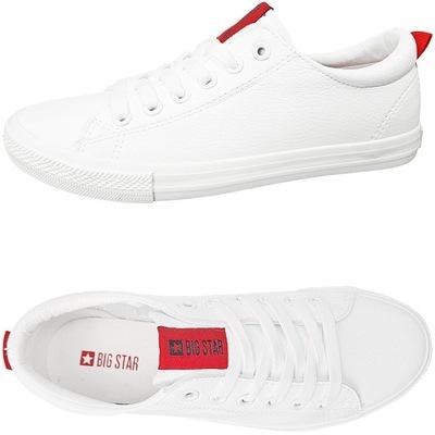 Trampki Big Star ekoskóra białe buty DD274685 37