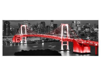 Nástenné maľby 268x100c Tokio dúhový most v červenej farbe