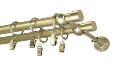 Karnisz metalowy BASIC fi 19 podwójny 290 cm