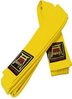 Pas pasy karate taekwondo judo Bushi żółty 200 cm
